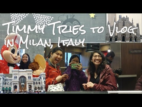 Timmy Tries to Vlog Ep. 1: Milan, Italy a foodie tour | Jollibee Italia + Review