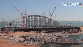 Керчь: транспортировка арок моста задерживается из-за ветра