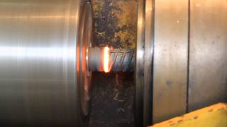 Сварка трением арматуры 36 мм на станке ПСТ 20Т, видео 1 (Rebar friction welding video 1)(, 2014-11-05T08:45:30.000Z)