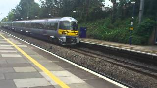 ealing broadway heathrow express train at speed