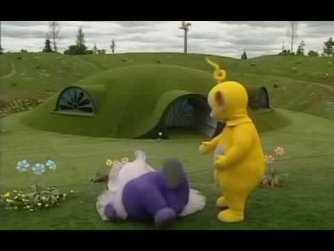 Tinky Winky gets shot