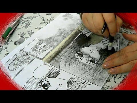 Drawing Manga Page | sketch, ink, screentones
