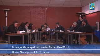 Concejo Municipal Miércoles 25 de Abril 2018 - El Quisco
