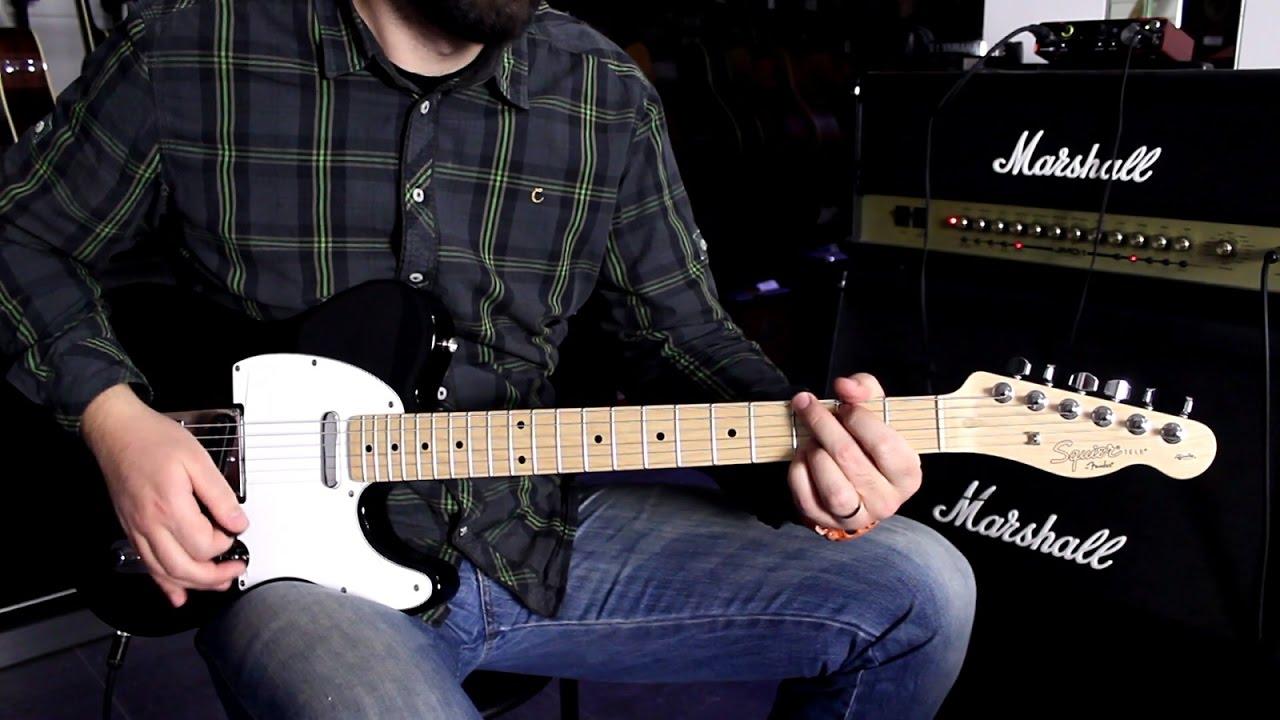 Fender Squier Affinity Telecaster Mn Metallic Black Guitar Demo Youtube