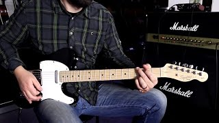 FENDER SQUIER AFFINITY TELECASTER MN METALLIC BLACK - Guitar Demo