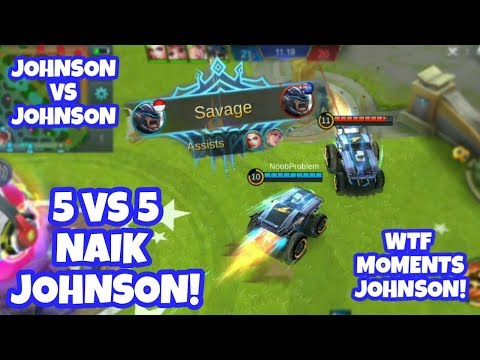SAVAGE NGAKAK! 5vs5 Naik Johnson! Hayabusa Mode Mayhem | Mobile Legends Indonesia