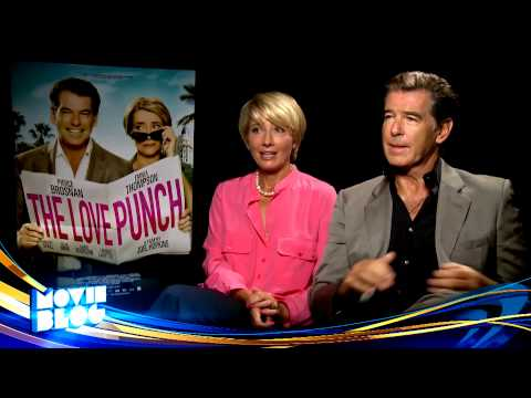 Emma Thompson and Pierce Brosnan, The Love Punch - Cineplex Interview
