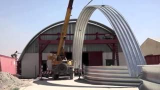 видео Строительство быстровозводимых ангаров