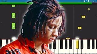 Trippie Redd, Juice WRLD, YNW Melly - 6 Kiss - Piano Tutorial