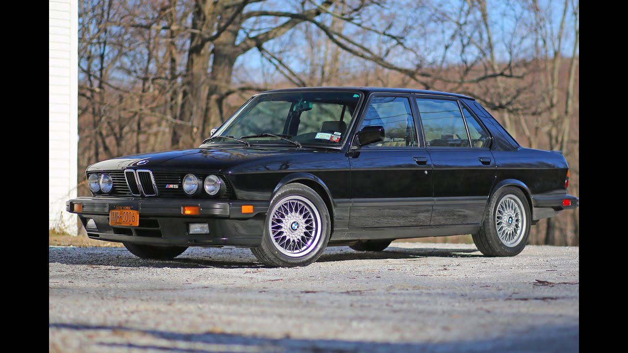 bmw e28 m5 review the legend 1988 model youtube. Black Bedroom Furniture Sets. Home Design Ideas