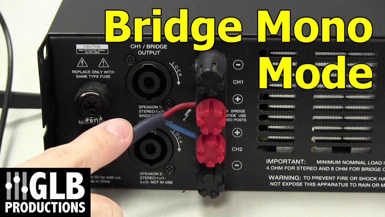 how to set up and connect a power amplifier in bridge mode [ 1280 x 720 Pixel ]