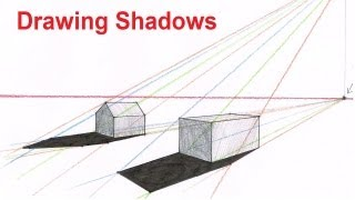 How To Draw Perspective Shadow - Drawing Shadows In Perspective
