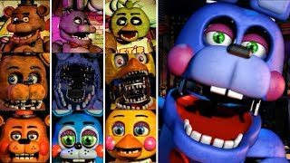 Evolution of Five Nights at Freddy's: All Jumpscares 1-7