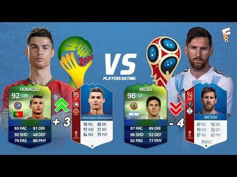 FIFA World Cup Players Rating FIFA 14 vs FIFA 18 ⚽ Footchampion