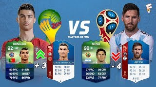 FIFA World Cup Players Rating FIFA 14 vs FIFA 18 ⚽ Footchampion