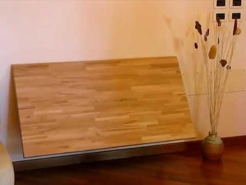 Tavolo-cinius-legno-faggio-apri-chiudi-muro.avi - YouTube