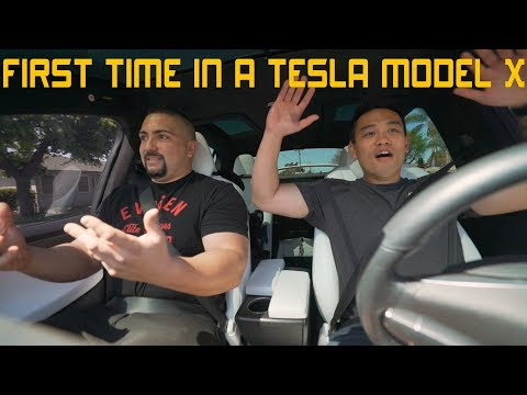 FIRST TIME IN A TESLA MODEL X 100D