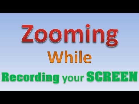 How To ZOOM While Recording Your Screen