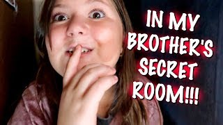 I FOUND MY BROTHERS SECRET HIDDEN ROOM!