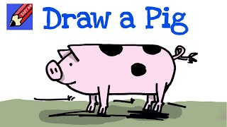 How to draw a pig real easy - for kids and begginners