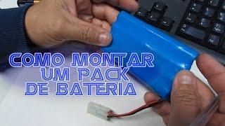 Como montar um pack de bateria caseiro,pack de bateria caseiro,bateria para sathero, #TP