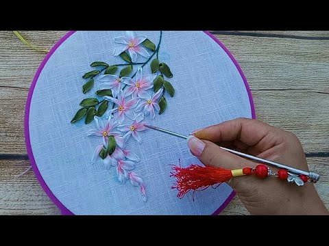 159-D.I.Y Ribbon embroidery flowers
