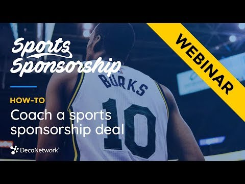 How to coach a sports sponsorship deal webinar