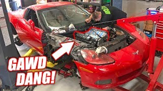 The Auction Corvette's VERSION 3.0 Engine is In! *Bald Eagles Preparing for Landing*