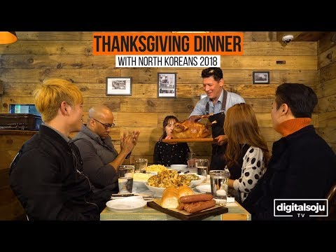 North Koreans Try Thanksgiving Food (2018)