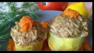 НОВИНКА! Фаршированные КАБАЧКИ в овощном соусе!Постное,вегетарианское,диетическое блюдо.Здоровая еда