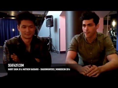 Harry Shum Jr & Matthew Daddario Shadowhunters WonderCon 2016 Interview