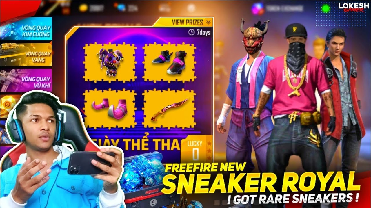 New Sneaker Royale I Got Sports Shoes & New Thunder Shoes & New Water Shoes At Garena Free Fire 2020