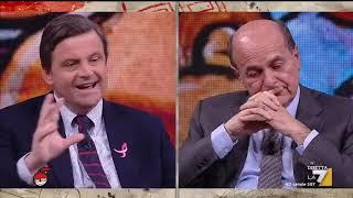 Pier Luigi Bersani si confronta con Carlo Calenda, candidato con Pd alle elezioni europee