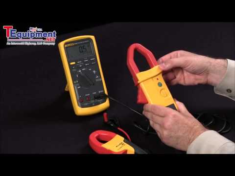 How To Configure A Fluke 87V Multimeter To Use AC And AC DC Current Clamps