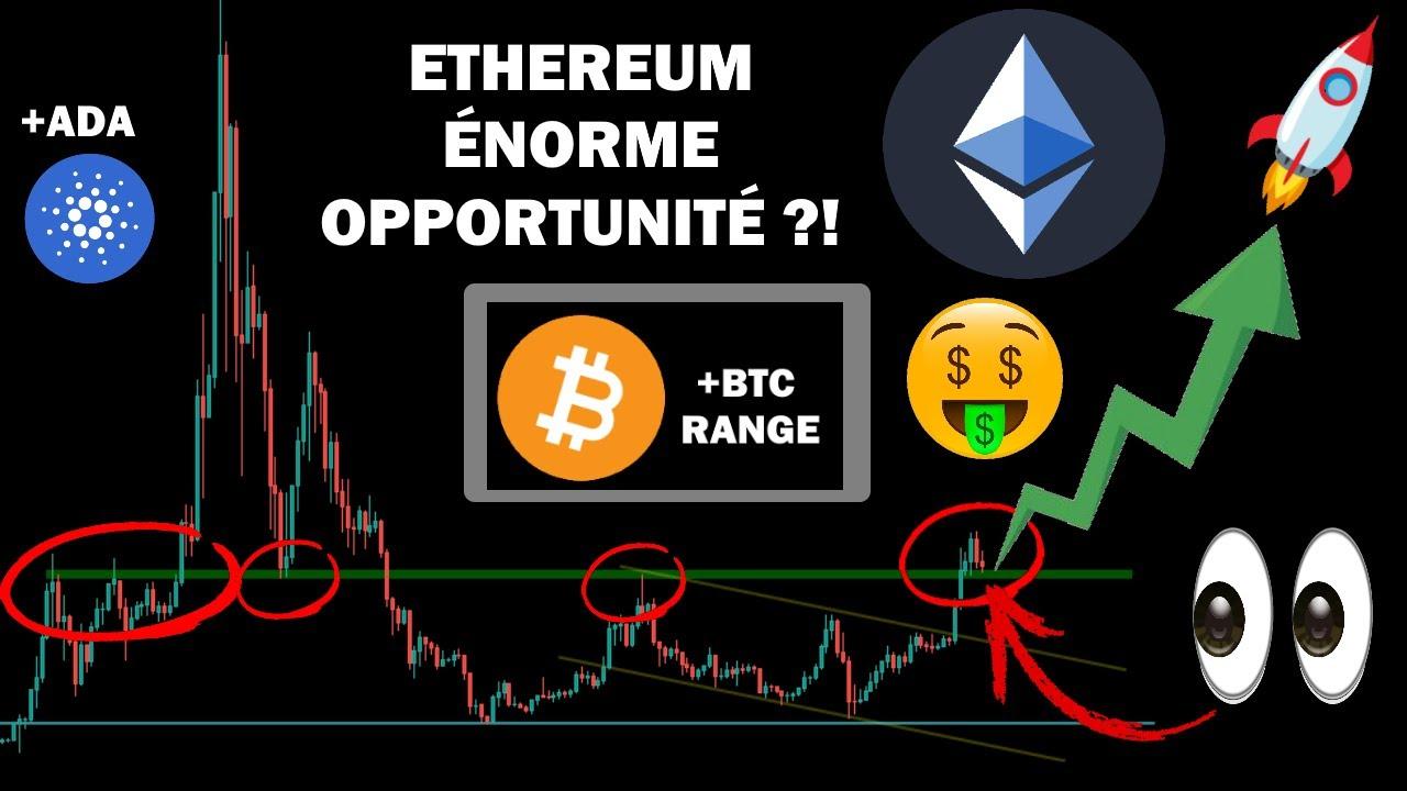 BITCOIN RANGE / ETHEREUM ÉNORME OPPORTUNITÉ ! + CARDANO analyse btc eth ada crypto monnaie fr