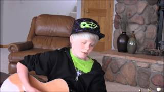 Justin Bieber - Boyfriend acoustic cover by 10 yr old Carson Lueders