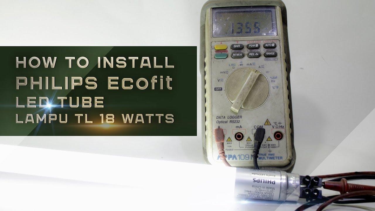 install tl led tube led philips ecofit wiring diagram [ 1280 x 720 Pixel ]