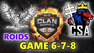 World of Tanks - ROIDS vs CSA - CLAN SUPER CUP - GAME 6-7-8