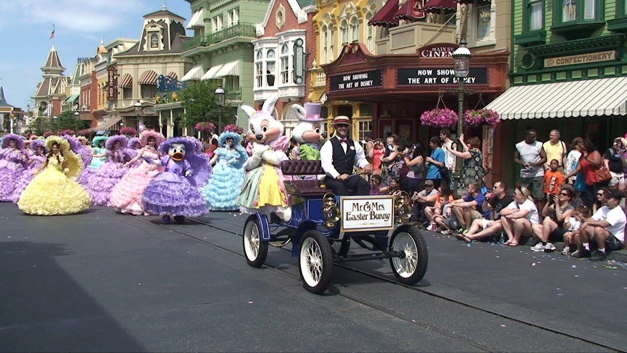 Disney Easter Pre Parade W Mr Mrs Bunny Azalea Trail Maids Daisy Duck Magic Kingdom