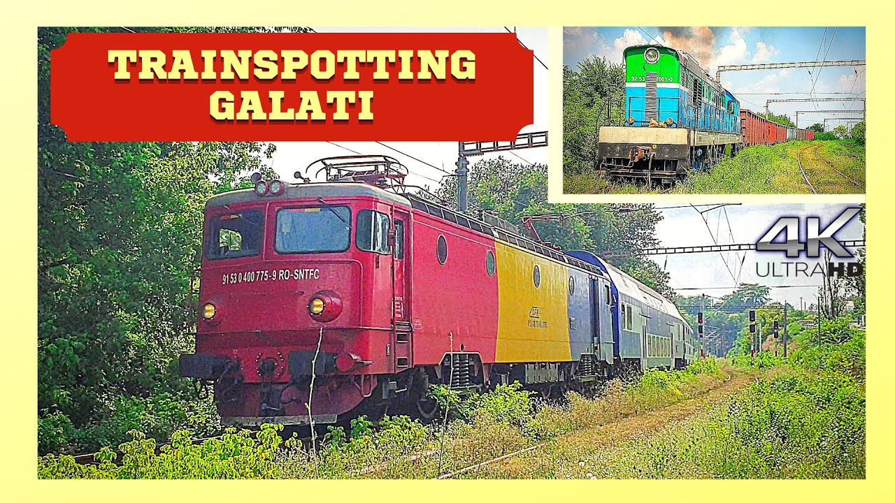 [4K] Trafic Feroviar / Railway Traffic in Galati | Trenuri | July 18th, 2021