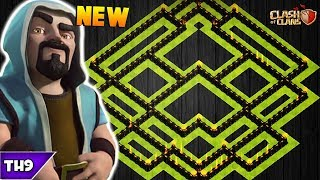 NEW TOWN HALL 9 FARMING/TROPHY BASE 2018! TH9 HYBRID FARM BASE APRIL UPDATED!! - CLASH OF CLANS(COC)