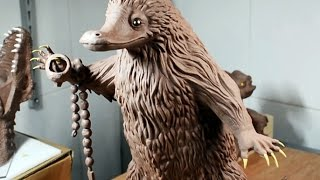 Sculpting the Niffler from fantastic beasts and where to find them