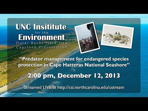 UNC Institute for the Environment OBX Field Site Capstone Presentation 2013