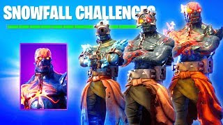 ALL 4 STAGES SNOWFALL SKIN UNLOCKED (Fortnite FREE SECRET SKIN) Fortnite Battle Royale