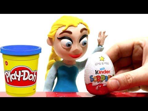 Princess Elsa unboxing surprise egg Funny Stop motion video for kids