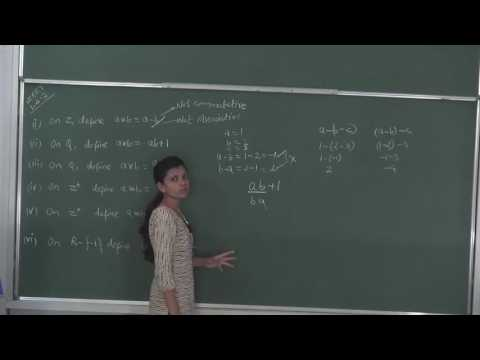 MATHS-XII-1-07 NCERT Exercise on binary operation(2016) By Swati Mishra, Pradeep Kshetrapal channel