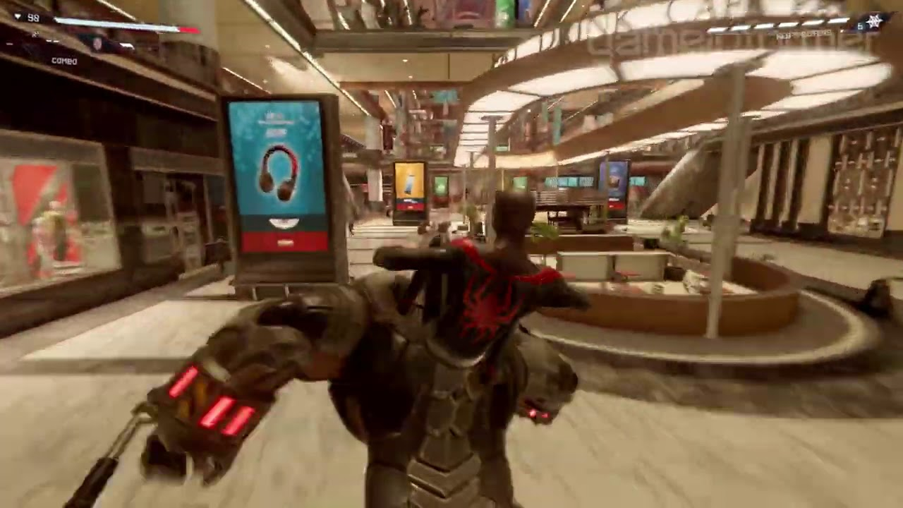 Spider-Man: Miles Morales Rhino chase scene - YouTube