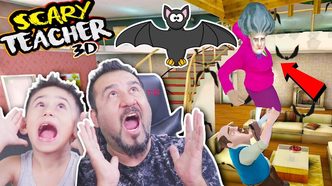 KIZGIN ÖĞRETMENE YARASA ŞAKASI! | SCARY TEACHER 3D OYNUYORUZ!