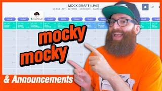 Fantasy Football Mock Draft \u0026 Big Announcements (2020)
