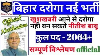 bihar daroga recruitment 2019 [bihar si vacancy]official notification Online Apply Date Various Post